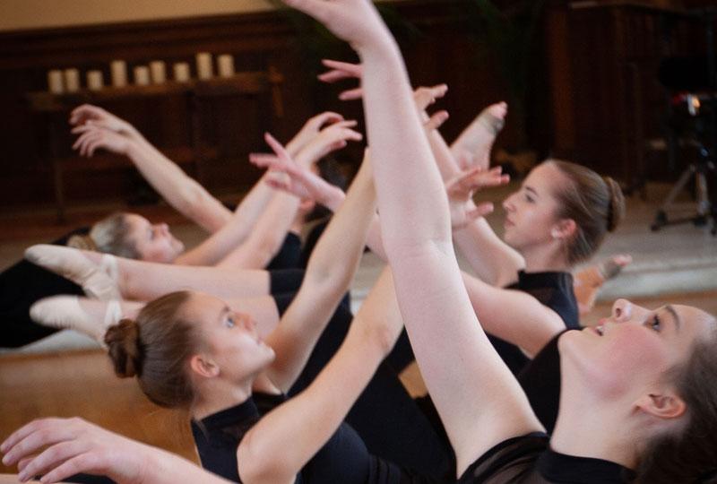 Dancing closeup of hands